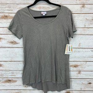 LuLaRoe Classic T XS Green Brushed Cotton NWT